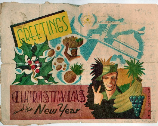 Chindit christmas card 1944