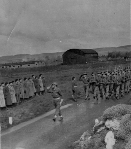 1st polish armoured division officer school parade 1945